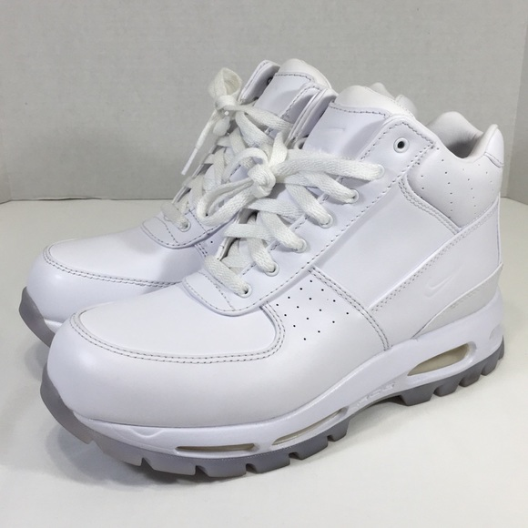 new style e1aca 536f6 Nike Air Max Goadome ACG Leather Boot Triple White